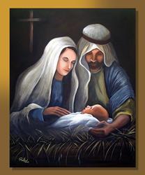 Art: A Savior is Born by Artist Rita C. Ford