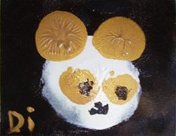 Art: Golden Panda by Artist Di  Wendy Peel