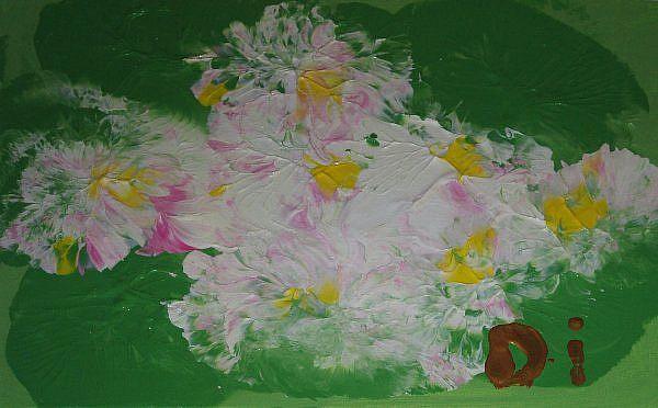 Art: Frangipani    SOLD by Artist Di  Wendy Peel