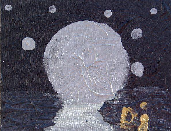 Art: Night   SOLD by Artist Di  Wendy Peel