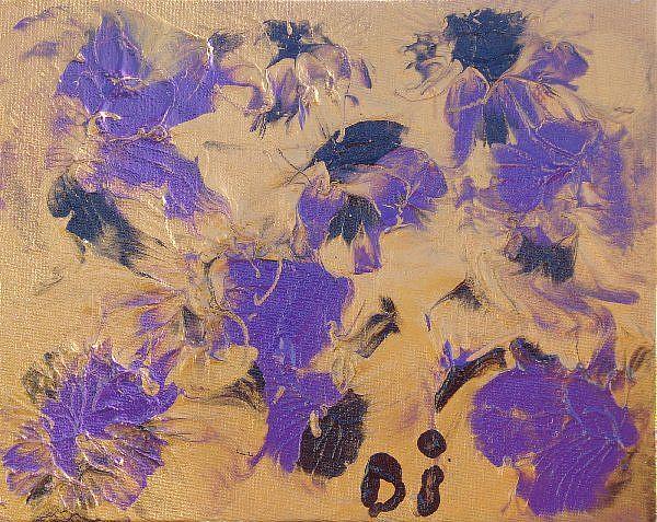 Art: Purple Escape  SOLD by Artist Di  Wendy Peel