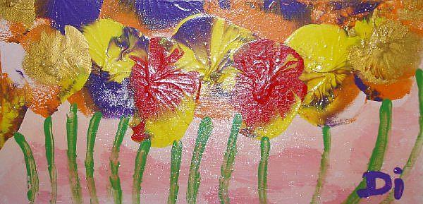 Art: Slumbering Pansies   SOLD by Artist Di  Wendy Peel