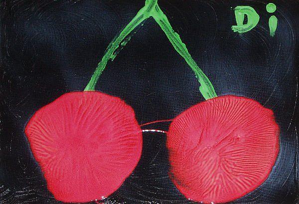 Art: Cherries by Artist Di  Wendy Peel