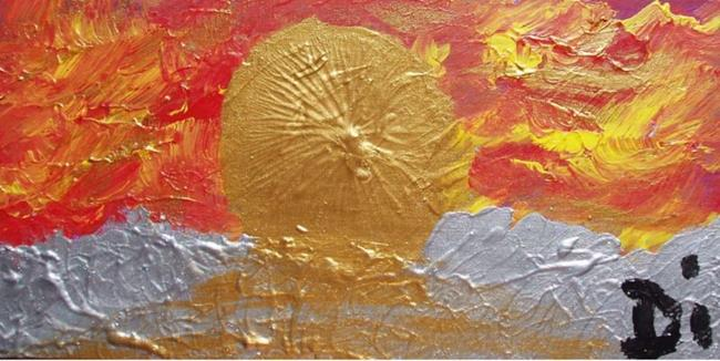 Art: Gicki Sunrise    SOLD by Artist Di  Wendy Peel