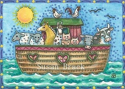 Art: NOAHS BARN YARD by Artist Susan Brack