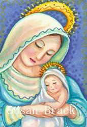 Art: MADONNA AND CHILD by Artist Susan Brack