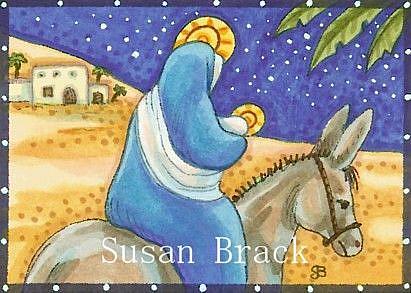 Art: LEAVING BETHLEHEM by Artist Susan Brack
