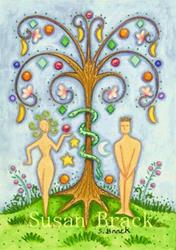 Art: STYLIZED ADAM & EVE by Artist Susan Brack