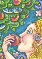 Art: SNAKE IN THE ORCHARD by Artist Susan Brack