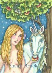 Art: UNICORN IN THE GARDEN OF EDEN by Artist Susan Brack