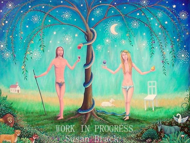 Art: ADAM AND EVE WORK IN PROGRESS by Artist Susan Brack