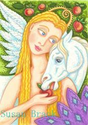 Art: PEGASUS AND EVE by Artist Susan Brack