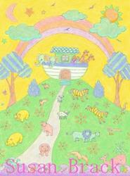 Art: NOAHS ARK RAINBOW by Artist Susan Brack