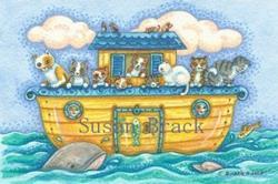 Art: KITTIES OF THE ARK by Artist Susan Brack