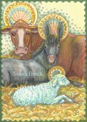 Art: HOLY NIGHT Animals by Artist Susan Brack