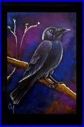 Art: RAVEN PROFILE 34 by Artist Cyra R. Cancel