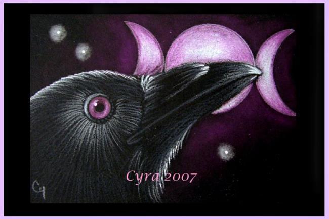 Art: RAVEN PROFILE 49  by Artist Cyra R. Cancel