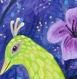 Detail Image for art Green Kiwi Birds