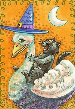 Art: HALLOWEEN RIDE by Artist Susan Brack