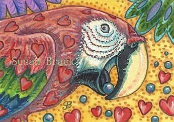 Art: HEARTS OF VALENTINO by Artist Susan Brack