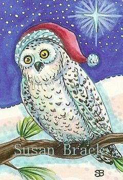 Art: SNOW OWL by Artist Susan Brack