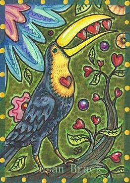 Art: TOUCAN TREE OF LIFE by Artist Susan Brack