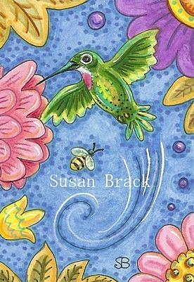 Art: LITTLE HUMMER by Artist Susan Brack