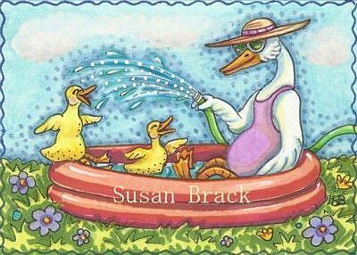 Art: LIKE DUCKS TO WATER by Artist Susan Brack