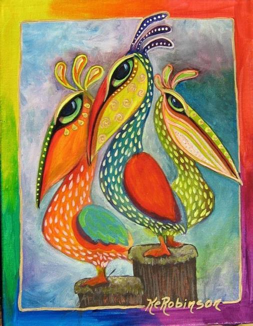 Art: Pelicans #7831 by Artist Ke Robinson