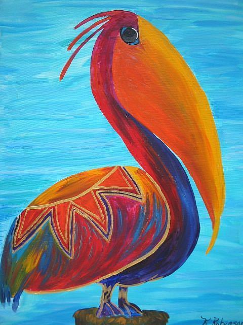 Art: Wild Pelican #3 by Artist Ke Robinson