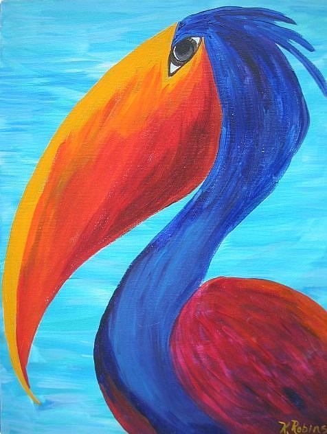 Art: Wild Pelican #2 SOLD by Artist Ke Robinson