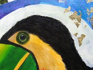 Detail Image for art TOUCAN MOON 18x18 sold