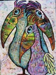 Art: Wild Pelican #0310 18x24 by Artist Ke Robinson