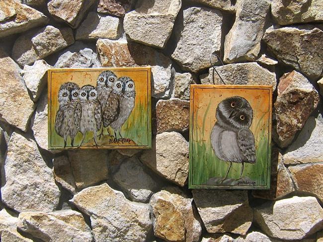 Art: Baby Owls by KeROBinson by Artist Ke Robinson
