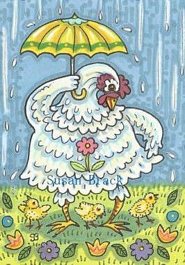 Art: APRIL SHOWERS #3 by Artist Susan Brack