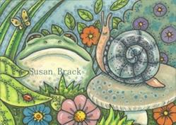 Art: CREATURES IN THE GARDEN by Artist Susan Brack