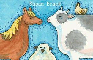 Art: BARN YARD FOLK by Artist Susan Brack