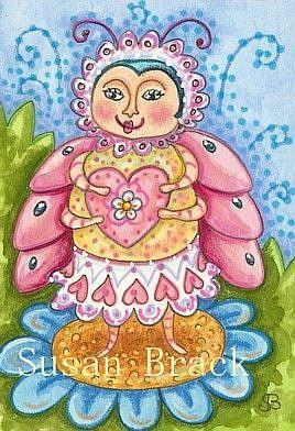 Art: ALWAYS IN THE PINK by Artist Susan Brack