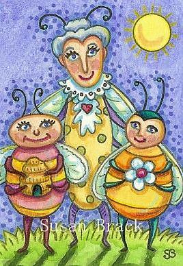 Art: BUZZY BEES by Artist Susan Brack