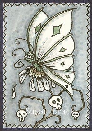 Art: GOTH BUTTERFLY by Artist Susan Brack