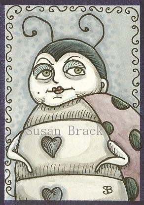 Art: GOTH LADYBUG by Artist Susan Brack