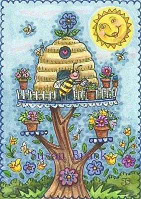Art: BEE HAPPY #2 by Artist Susan Brack