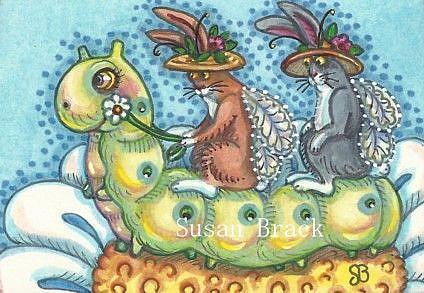 Art: FLUTTERBUNS - GIDDYUP CATERPILLAR by Artist Susan Brack