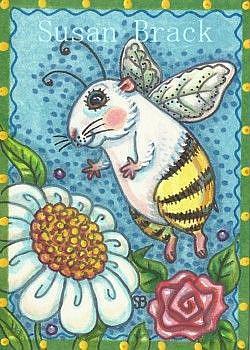 Art: GUINEA PIG BUMBLE by Artist Susan Brack