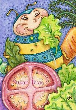 Art: LOVE A GOOD SALAD by Artist Susan Brack