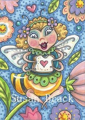 Art: HONEY ON BREAD IS THE BEE'S KNEES by Artist Susan Brack