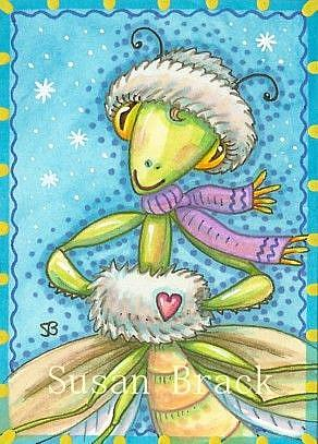 Art: SNOWFLAKES AND MUFF by Artist Susan Brack