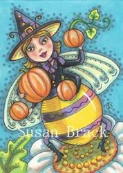 Art: QUEEN OF THE HALLOWEEN BEES by Artist Susan Brack