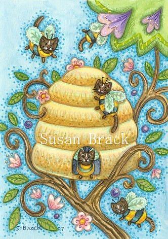 Art: BUMBLECAT HIVE by Artist Susan Brack