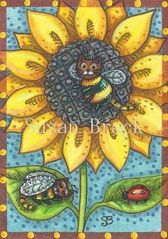 Art: MIDSUMMER BUZZ by Artist Susan Brack